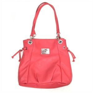 Nicole By Nicole Miller Marie Red Tote Bag Purse